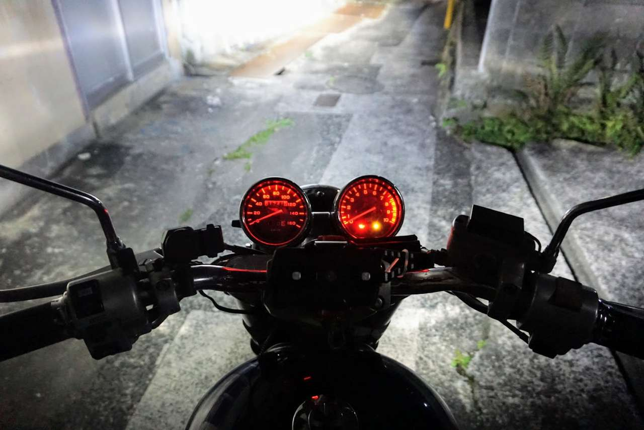VRX のメーター バックライトを LED 化しました。