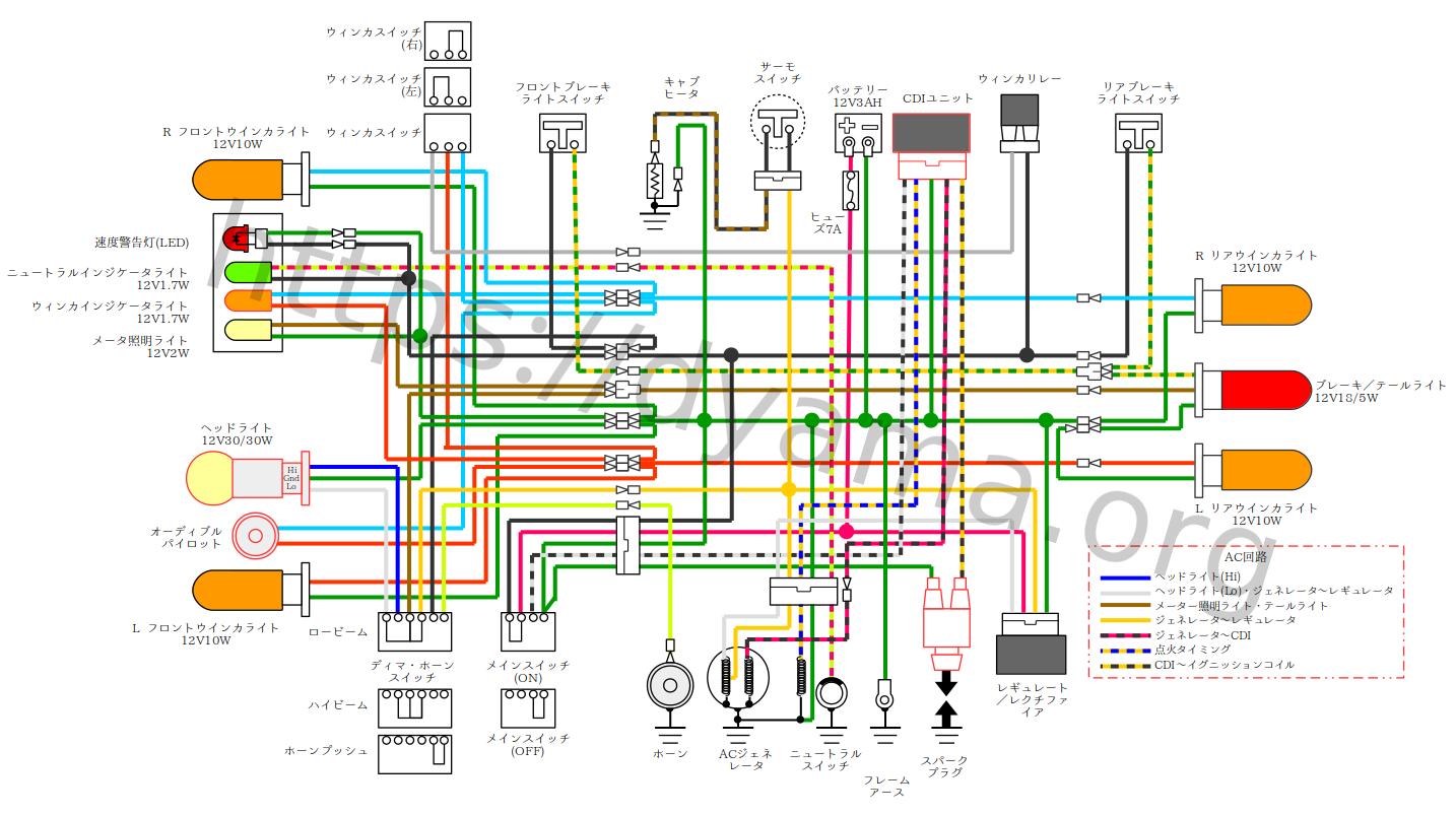 スーパーカブの配線図を作成しました。