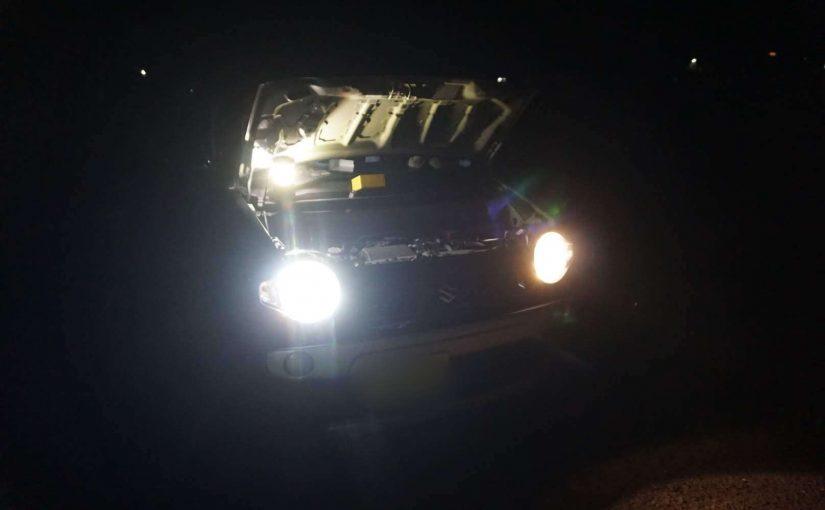 ハスラーのヘッドライトを LED 化しました。