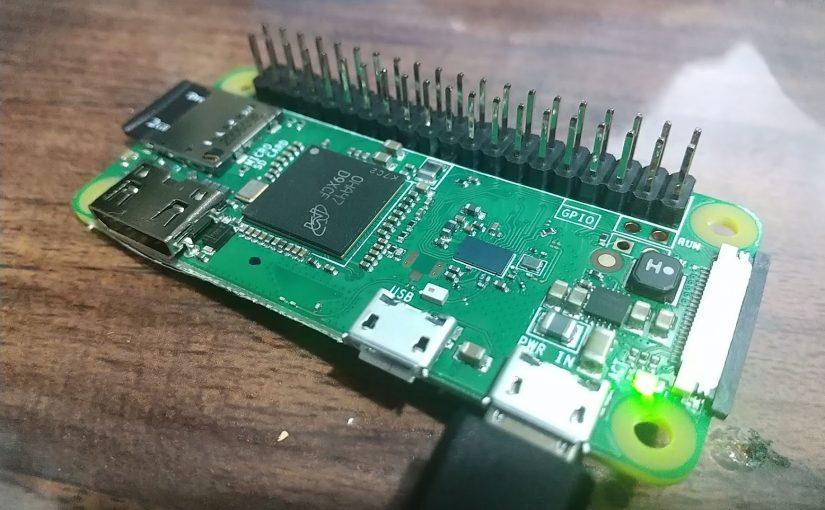 Raspberry Pi Zero W/WH のセットアップをしました。
