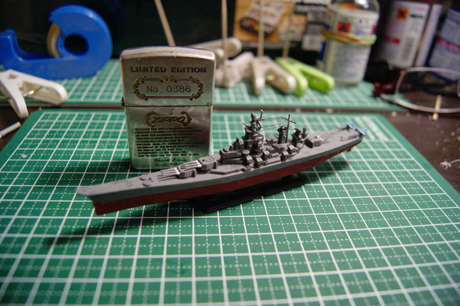 アオシマ 1/2000 戦艦ミズーリ1945 その2