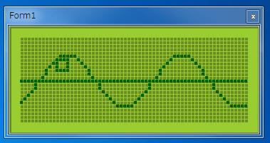 グラフィックLCD風ディスプレイシミュレータ