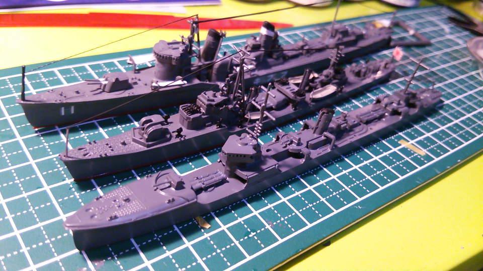 ハセガワ ウォーターラインシリーズ 1/700 駆逐艦 三日月