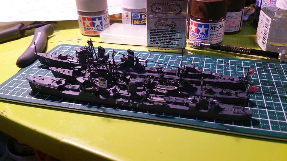 ハセガワ ウォーターラインシリーズ 1/700 駆逐艦 三日月(完成)