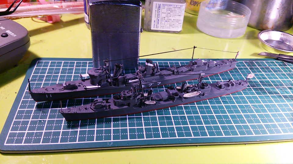 タミヤ ウォーターラインシリーズ 1/700 駆逐艦 桜(完成)