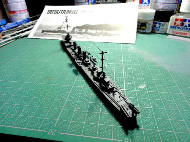 ハセガワ 1/700 ウォーターラインシリーズ 軽巡洋艦 龍田