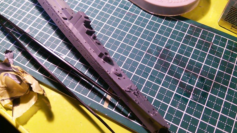 タミヤ ウォーターラインシリーズ 1/700 軽巡洋艦 矢矧