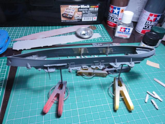 タミヤ 1/700 軽巡 矢矧&フジミ 1/700 空母 海鷹 その2