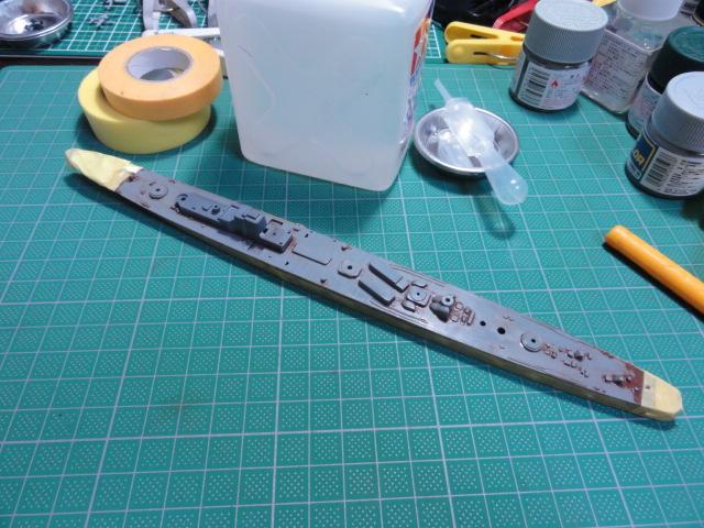タミヤ 1/700 軽巡 矢矧&フジミ 1/700 空母 海鷹
